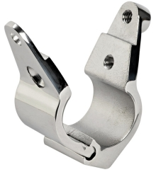 Boat Handrail 25mm Clamp Over Fork Polished Stainless Steel