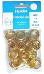 Eyelets Brass 11.5mm (7/16'') Pack of 25