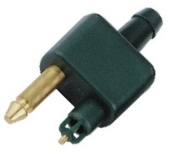 Male connector with hose adaptor Single JOHNSON EVINRUDE (31440)