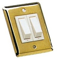 Wall Rocker Switch Size 51 x 64mm Double Brass