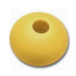 Yellow 17mm Dia Rope Stop Ball Parrel Bead 5mm Rope