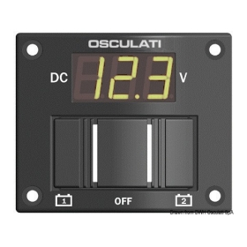Battery 2 Bank Voltage Meter Digits LCD-D