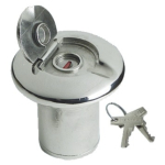 Boat FUEL Filler Polished Stainless with Lock 50mm Dia Neck (Cap_Type_03)