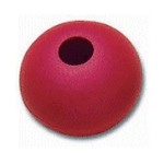 Red 44mm Dia Rope Stop Ball Parrel Bead 11mm Rope