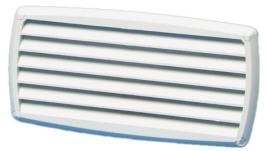 Louver Vent White ABS Plastic Size 201 x 101mm