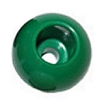 Green 32mm Dia Rope Stop Ball Parrel Bead 7mm Rope