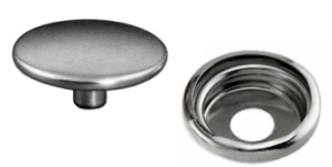 Canvas Snap Fastener Button & Socket Nickel Plated Brass