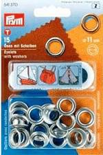 Eyelets Nickel Plated Brass 11mm Pack of 15 with Tool