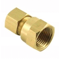 10mm Pipe Compression Joint Straight to Female 3/8'' BSP, Brass
