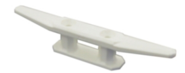 Boat Cleat 205mm White Nylon Cleat
