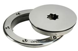 Boat Inspection Hatch 132mm Polished Stainless Steel