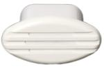 Horn Flush Mounted White 125 x 66mm 12 Volt