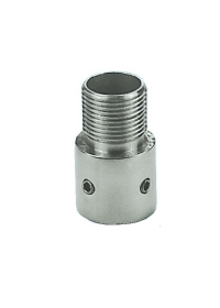 Marine Antenna Mount Coupling Stainless GPS/VHF Thread to 25mm Tube