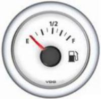 VDO Gauge Fuel 10/180 ohm (White Dial) 12 Volt