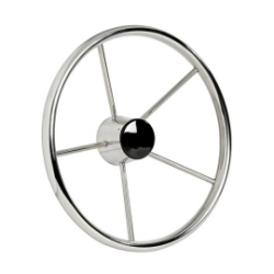 Mirror polished 5 spokes Polished Stainless Steel steering wheels 380mm