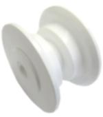 Bow Roller Replacement Roller White Nylon Dia 68mm Wt 43mm Hole Dia 10.5mm