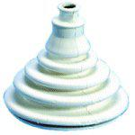 White Rubber Shift Bellows 42mm 10-20mm Cable