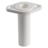 Boat Bimini Fitting White Nylon Pivot Base Assemble Part SM4663300