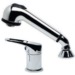 Single Control Mixer Tap, Pull-Out Shower Head (2 Part)
