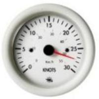 Guardian Speedometer 30 Knots White Face & Bezel