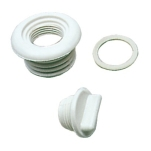 Hull Drain and Plug White Nylon