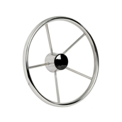 Mirror polished 5 spokes Polished Stainless Steel steering wheels 320mm