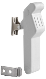 Eccentric Latch White Rubber Leaver 96 x 29mm