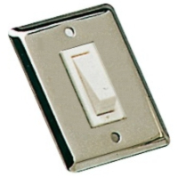 Wall Rocker Switch Size 51 x 64mm Single Stainless