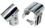 Boat Handrail 25mm 60 Deg Tee Joint Clamp Over Polished Stainless Steel