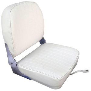 Boat Seat White Folding Back