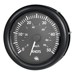 Guardian Speedometer 50 Knots Black Face & Bezel