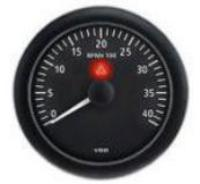 VDO Gauge Revolution Counter 0 RPM to 4,000 RPM Black