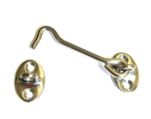 93mm Cabin Hook Polished 316 Stainless Steel.