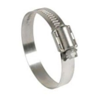 Hose Clamp 40-60mm 12mm Band Wt 316 Stainless Steel