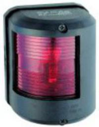 Navigation Light Utility 78 Red Port 112 Degree Black Surround 24 Volt