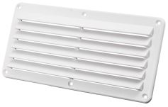 Louver Vent White Strong Nylon Size 260 x 125mm