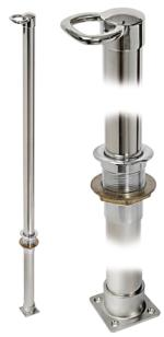 Water Ski Tow Pole HEAVY-DUTY 1200mm 316 Polished Stainless Steel