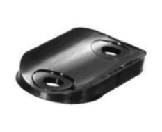 Tube Saddle Washer 25mm Tube - 38mm o/a - 5mm Hole Black