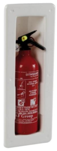 Extinguisher Recessed Compartment with Snap In Lugs