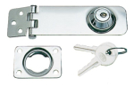 Hasp & Staple Key Locking 105mm Polished Stainless Steel