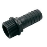 Hose Tail 1.1/2'' BSP Male to a 38mm (Polypropylene)