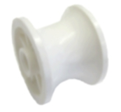 Bow Roller Replacement Roller White Nylon Dia 51mm Wt 52mm Hole Dia 8.5mm