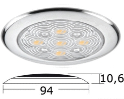 Cabin Ceiling Light LED Mirror Polished Outer 94mm Dia