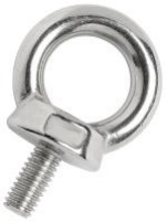 Eye Bolt M6 x 41mm 16mm Eye Aperture 316 Polished Stainless Steel
