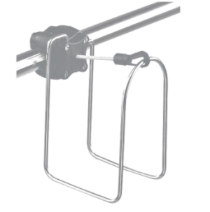 Horseshoe Lifebuoy Rail Mounted Rack