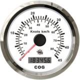 Boat Speedometer GPS with Compass (White/Stainless)