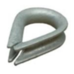 7/16'' ( 10-11mm ) Galvanised Thimble Heart Shape