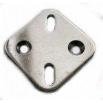 Boat Handrail Fitting Mounting Plate 44 x 44 x 3mm Polished Stainless Steel