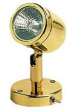 Cabin Mini Berth Light Polished Lacquered Brass with Switch