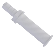 Hull Drain Skin Fitting 30 x 150 Hose Tail 19mm White
